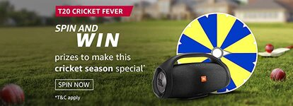 Amazon T20 Cricket Cricket Fever Spin and Win Quiz